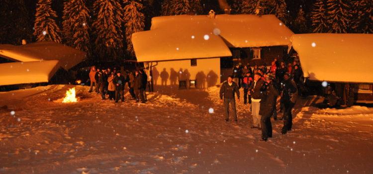 Weihnachtsfeier auf der Hindenburghütte am 17. Dezember 2010 und DTM-Feier Unterwirtsalm