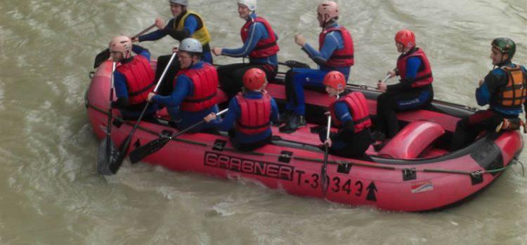 Vereinsausflug 2007 – Schlauchbootfahrt auf der Tiroler Ache