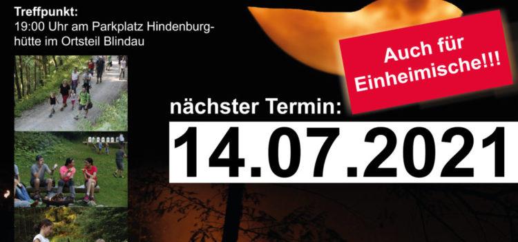Auch im Jahr 2021 finden wieder diverse Nachterlebnisse am Klausenberg statt